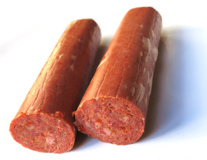 spicy pickled sausage
